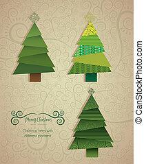 arbre, noël, illustration