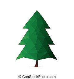 arbre noël, isolé, sur, a, blanc, arrière-plans, vecteur, illustrat