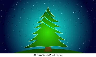arbre, noël, joyeux