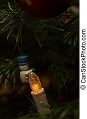 arbre noël, lumière