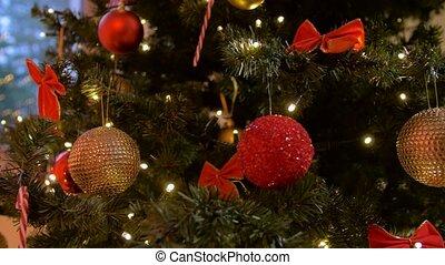 arbre, noël, maison, artificiel, décoré