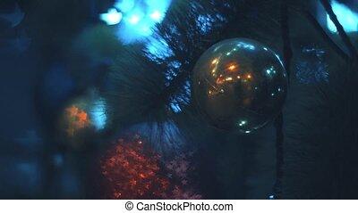 arbre, noël, nuit