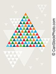 arbre, noël, résumé, géométrique
