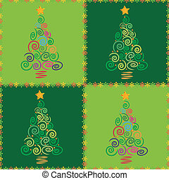 arbre, noël, seamless