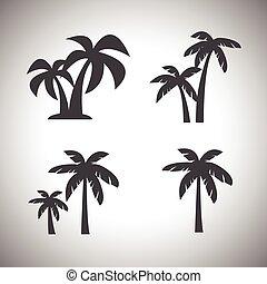 arbre noix coco, icône