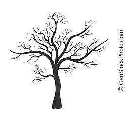 Ch ne silhouette arbre nu ic ne silhouette ch ne - Dessin arbre nu ...