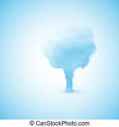 arbre, nuage, formulaire