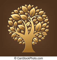 arbre, or