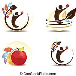 arbre, pomme, humain
