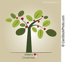 arbre., résumé, vecteur, illustration.