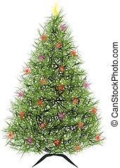 arbre, résumé, vecteur, noël