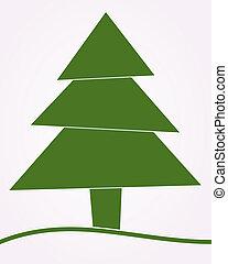 arbre, résumé, vert, noël
