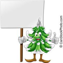 arbre, si, caractère, noël, tenue