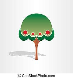 arbre, symbole, conception, famille