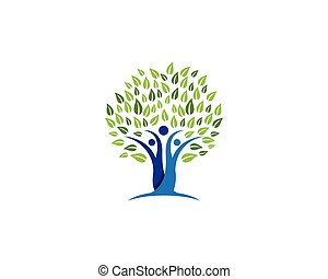 arbre, symbole, conception, famille, icône
