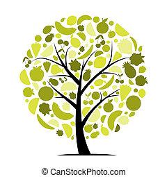 arbre, ton, fruit, conception, énergie