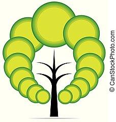 arbre, vecteur, emblème