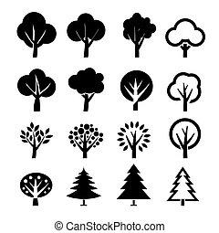 arbre, vecteur, ensemble