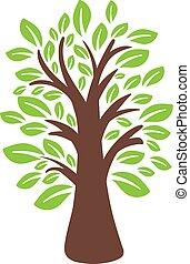 arbre., vecteur, illustration