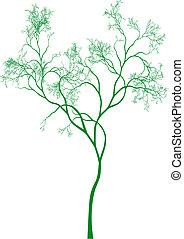 arbre, vecteur, vert