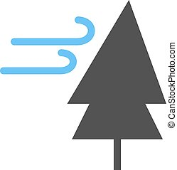 arbre, vent
