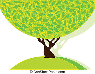 arbre vert, leafage.