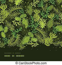 arbre vert, modèle, cadre, arbre, seamless, fond, horizontal...