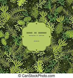 arbre vert, modèle, cadre, arbre, seamless, fond, noël