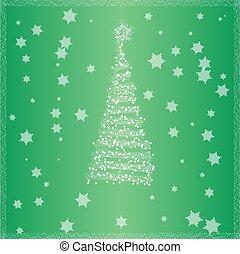 arbre, vert, noël, fond