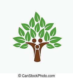 arbre, vie, vecteur