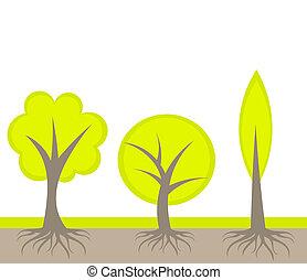 arbres, illustration
