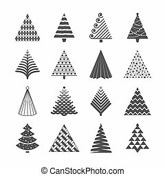 arbres, noël, collection