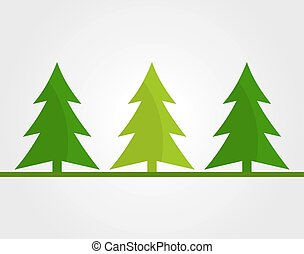 arbres, noël, fond