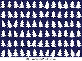 arbres, noël, modèle fond
