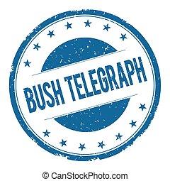 arbusto, telégrafo, estampilla, señal