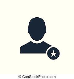 arcél, értékelés, csillag, legjobb, kedvenc, cégtábla., jelkép, ikon