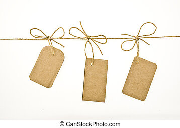 arc, à, carton, étiquettes