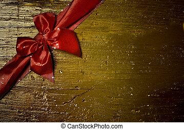 arc, carte voeux, rouges