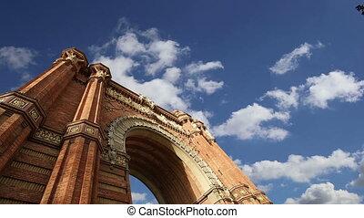 Arc de Triomf,Barcelona,Spain(time lapse)