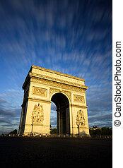 Arc de Triomphe at Sunset, Paris
