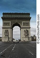 Arc de Triomphe Detail in Paris