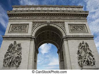 Arc de Triomphe from Champs Elysees in Paris