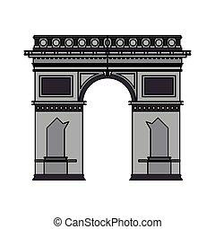 arc de triomphe icon image