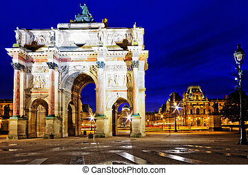 Arc de Triomphe in the square Karruzel (Jardin des Tuileries) . Paris. France