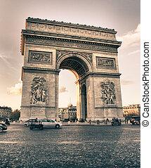 Arc de Triomphe in Winter, Paris