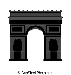 Arc de Triomphe Paris - Arch of Triumph of the Star in Paris...