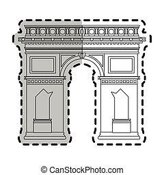 arc de triomphe paris icon image