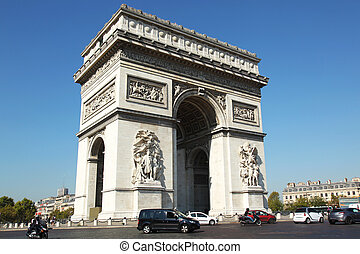 Arc de Triomphe Paris - the Arc de Triomphe, Arch of Triumph...