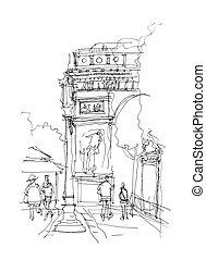 Arc de Triomphe sketch