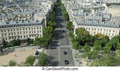 Arc de Triomphe skyline of Paris skyline from top of Arch of...